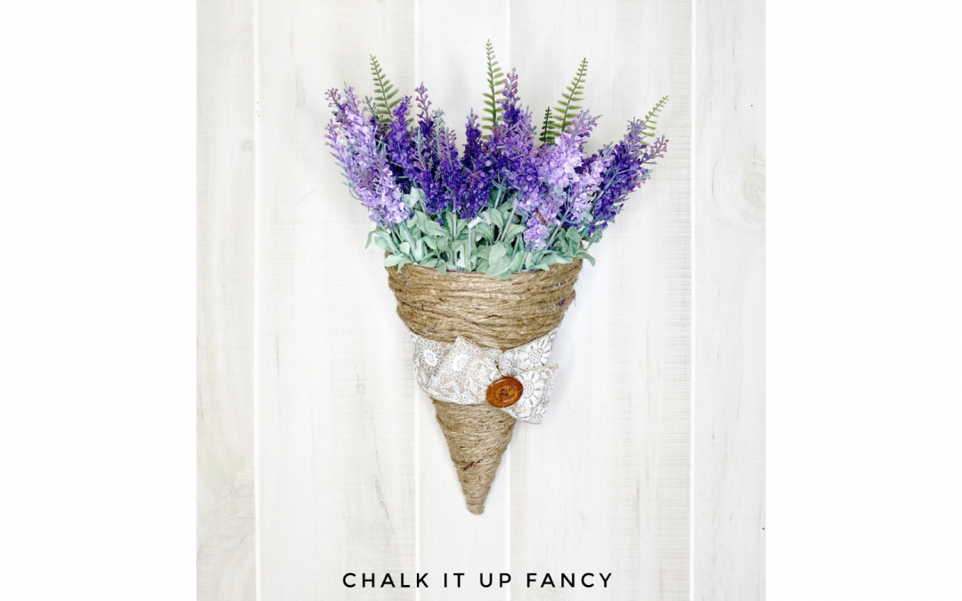 DIY Lavender Wall Hanging using Dollar Tree Party Hat Supply List