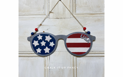 DIY Americana Sunglass Home Decor Supply List