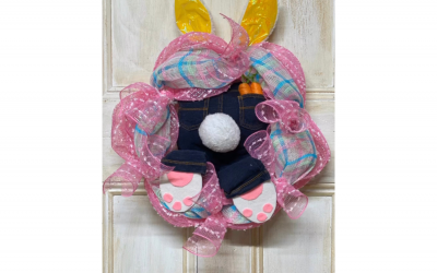 Butt Bunny Mesh Wreath Supply List