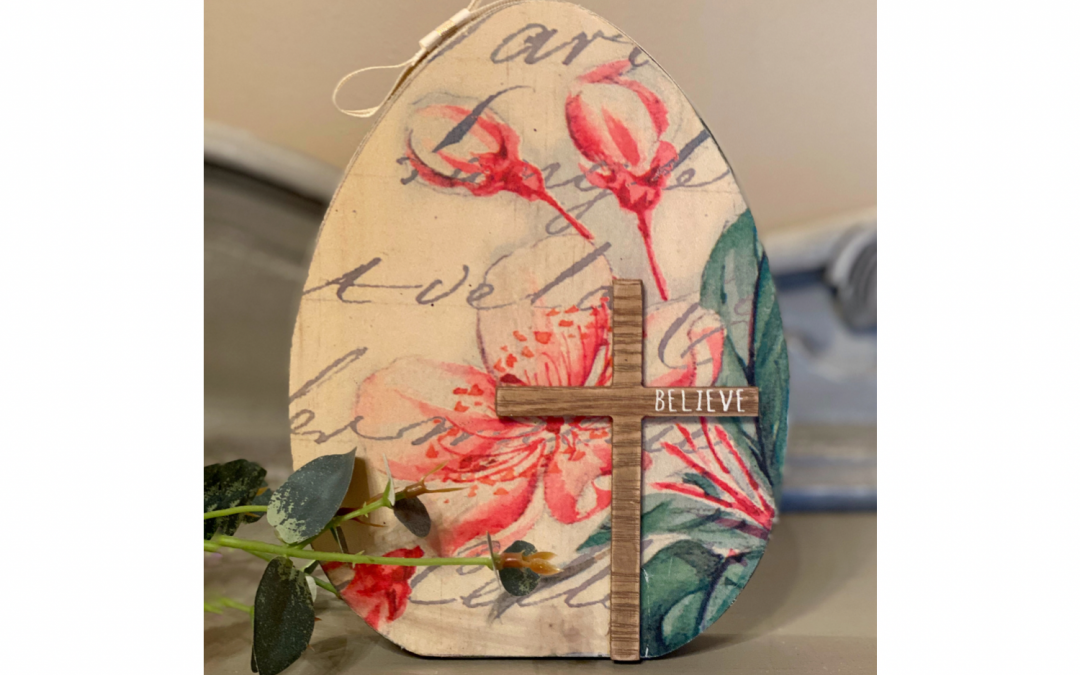 DIY Decoupage Iron Technique on Wooden Easter Egg Supply List
