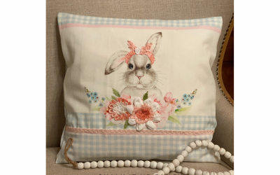 DIY No Sew Pillow with Bunny Tea Towel Set Supply List