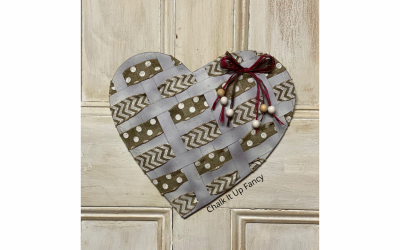 Easy Galvanized Heart Wreath Supply List