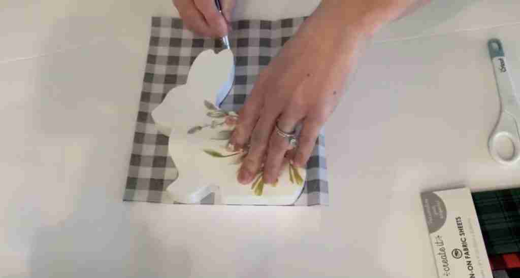 Tracing Bunny Cut Out onto Iron On Fabric