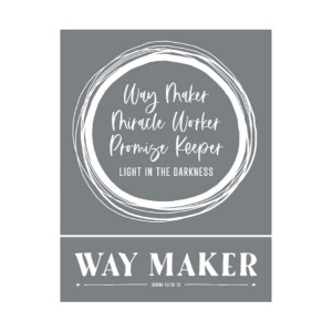 way maker miracle worker promise keeper mesh stencil for diy projects
