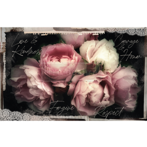 mulberry tissue paper meant to decoupage with floral pattern