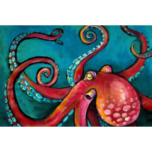 octopus tissue paper for decoupage