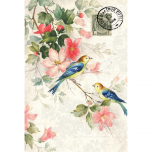 blue winged bird tissue paper for crafting
